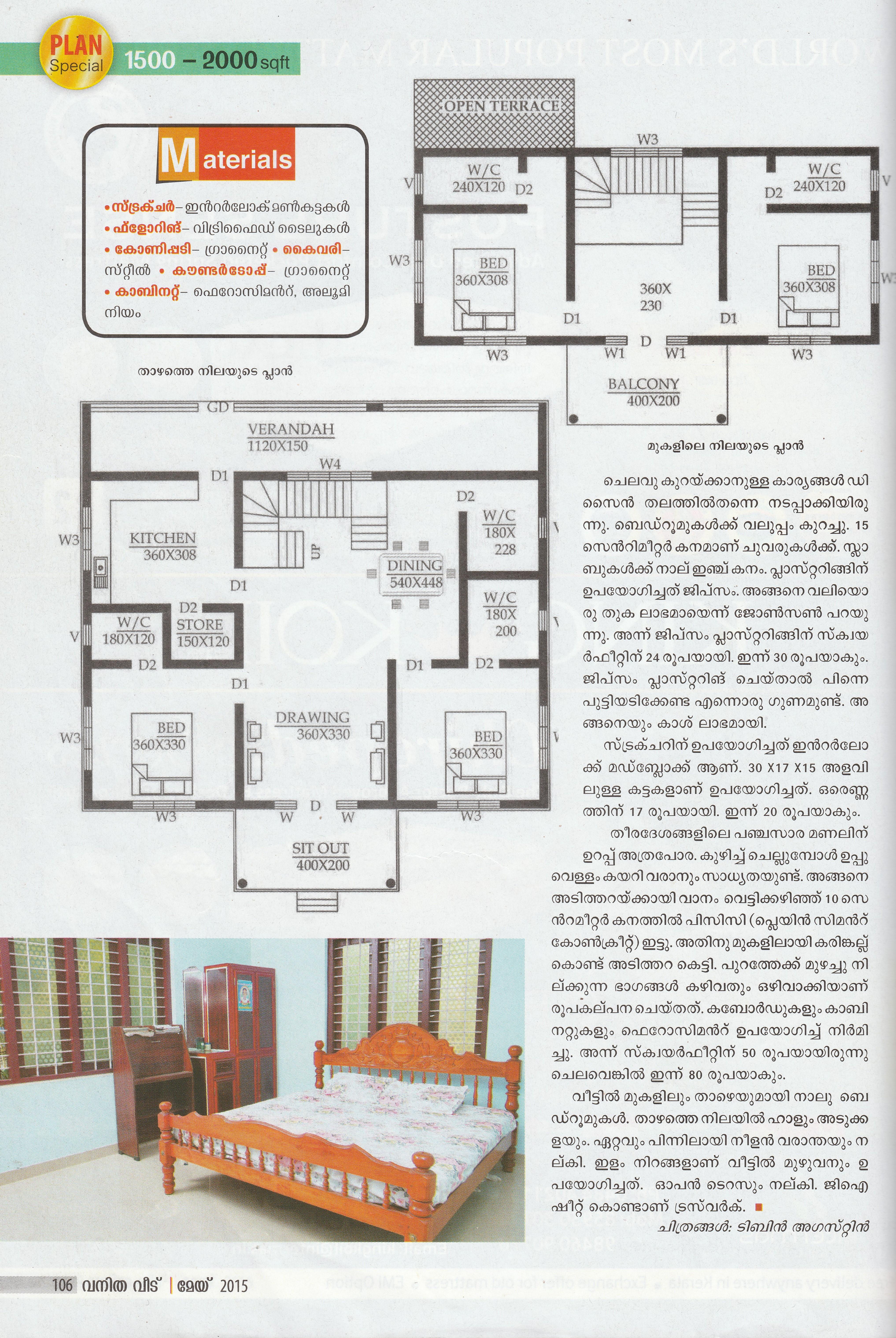 Articles building designers chelari kerala for Manorama house plans