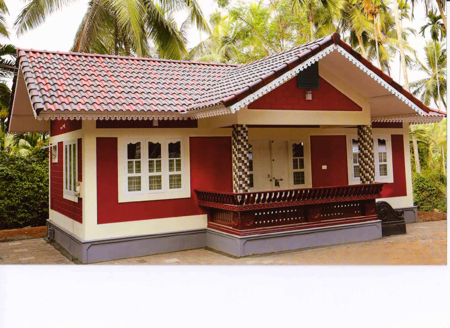 10 lakh 2bhk house at thenhipalam building designers for Low cost house plans with estimate